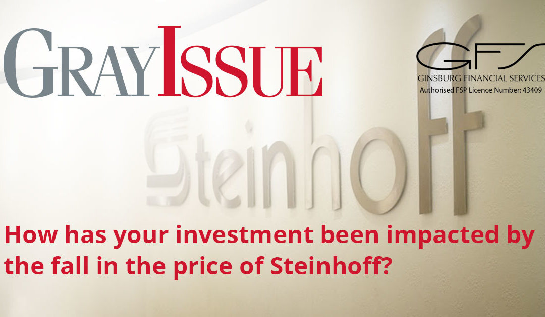 How has your investment been impacted by the fall in the price of Steinhoff?