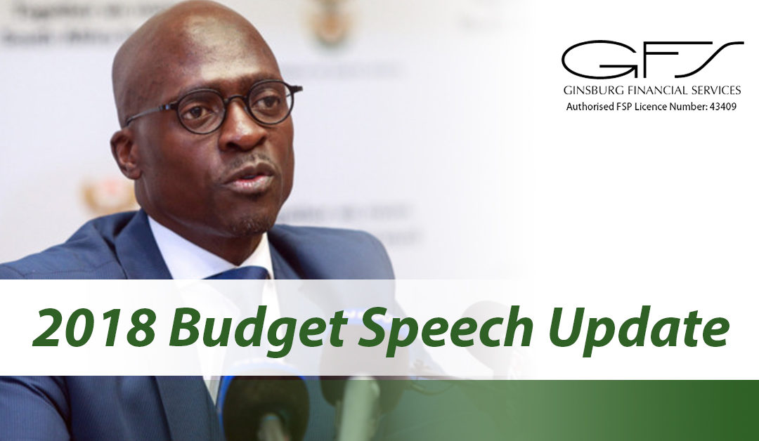 Updates from the 2018 budget speech