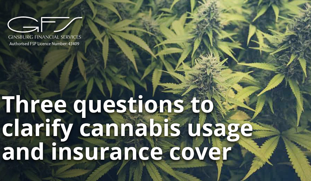 Three questions to clarify cannabis usage and insurance cover